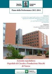 Piano della Performance - Ospedale di Circolo e Fondazione Macchi