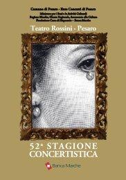 Libretto - 52a Stagione Concer... - Pesaro Cultura