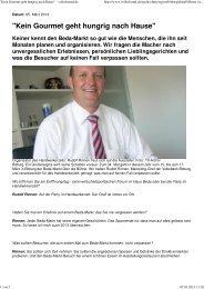 Kein Gourmet geht hungrig nach Hause - Volksbank Bitburg eG