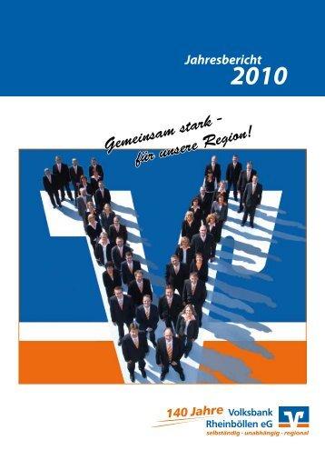 Gemeinsam stark - für unsere Region! - Volksbank Rheinböllen eG