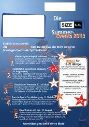 findet Ihr Infos zu allen Summer Events 2013 - Volksbank Eifel Mitte ...