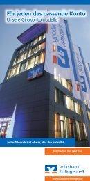 Girokontomodelle-Flyer zum downloaden - Volksbank Ettlingen eG