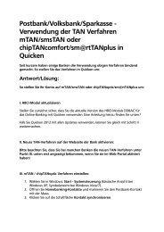 Anleitung Umstellung auf mobileTAN oder Sm@rt-TAN-plus