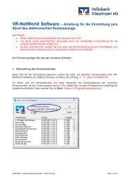 Einrichtung elektronischer Kontoauszug - Volksbank Göppingen eG