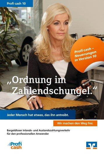 Neuerungen Profi cash 10 - Vereinigte Volksbank eG - meine VVB ...