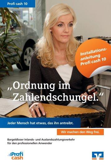 Profi Cash Installationsanleitung 120x180.indd - Vereinigte ...