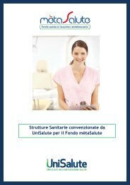 Strutture Sanitarie convenzionate da UniSalute per il ... - Cisl Treviso