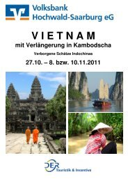 Reiseprospekt Vietnam - Volksbank Hochwald-Saarburg eG