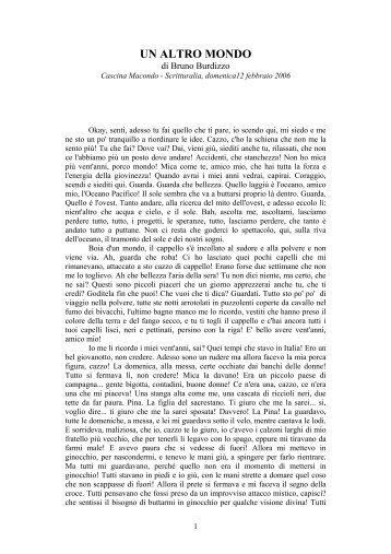 UN ALTRO MONDO - Cascina Macondo, Scuola di Dizione, Centro ...