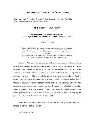 GT 15 – COMUNICAÇÃO E RELAÇÕES DE GÊNERO ...