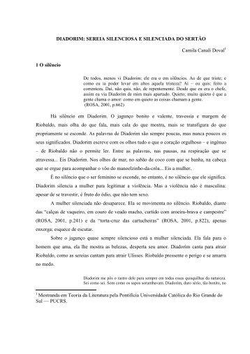 DIADORIM: SEREIA SILENCIOSA E SILENCIADA DO ... - pucrs