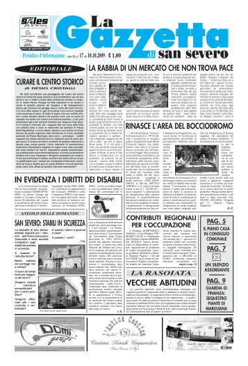 1 luglio - La Gazzetta di San Severo