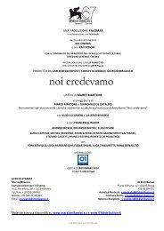 Scarica il pressbook di 'Noi credevamo' - Cineteca di Bologna