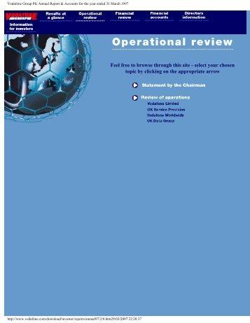 Annual Report – 31 March 1997 - Vodafone