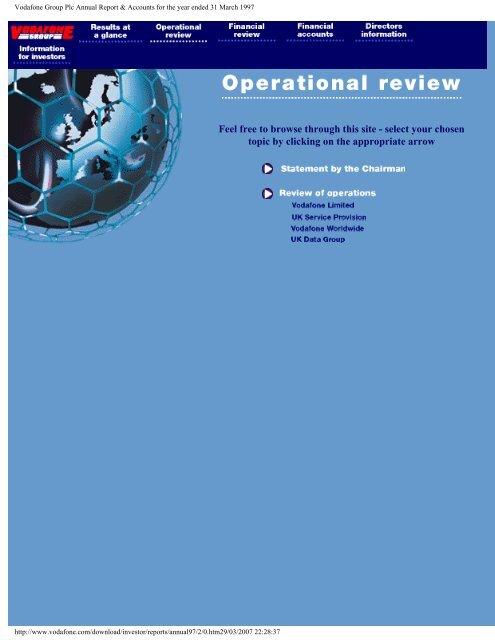 Annual Report 31 March 1997 Vodafone