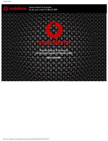 Annual Report – 31 March 1999 (PDF 1.0MB) - Vodafone