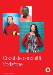 Codul de conduită Vodafone