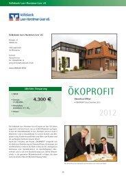 Bericht über die Volksbank Laer-Horstmar-Leer eG in der Ökoprofit ...