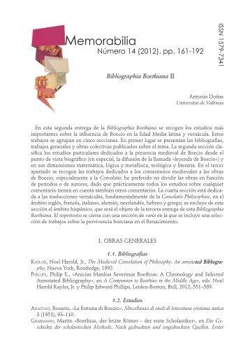 Memorabilia - Parnaseo - Universitat de València