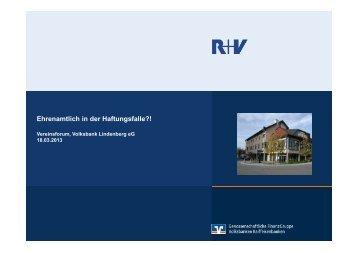 Ehrenamtliche Vorstände in der Haftungsfalle - Volksbank ...