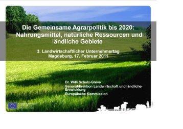 Präsentation von Dr. Willi Schulz-Greve - Volksbank Magdeburg eG