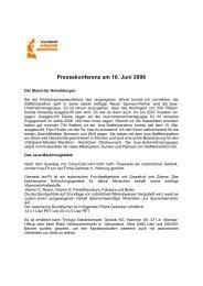 Pressekonferenz am 10. Juni 2008 - Münster Marathon