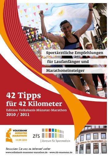 42 Tipps - Münsteraner Marathon Medizin Symposium
