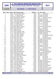 Kreis-Meisterschaft MS/WAF - Münster Marathon