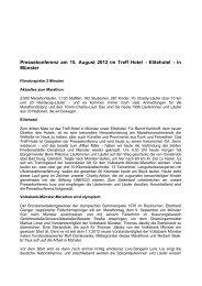 Pressekonferenz am 15. August 2012 im Treff ... - Münster Marathon