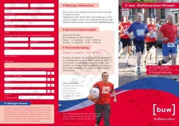 4. buw - Staffelmarathon Münster - Münster Marathon