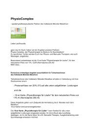 PhysioComplex-Marathonangebot 2011 [pdf ... - Münster Marathon