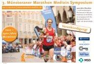 3. Münsteraner Marathon Medizin Symposium - Münster Marathon