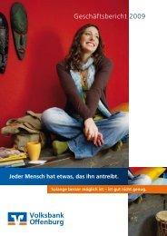 Geschäftsbericht 2009 - Volksbank Offenburg eG