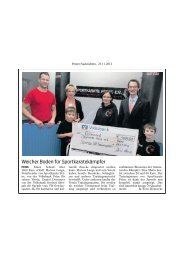 Sportkarate Peine e.V. erhält Spende für neue Trainingsgeräte