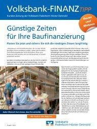 Volksbank-FinanzTIPP zum Thema ?Bauen und Wohnen?, Ausgabe ...