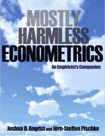 AngristPischke-MostlyHarmlessEconometrics