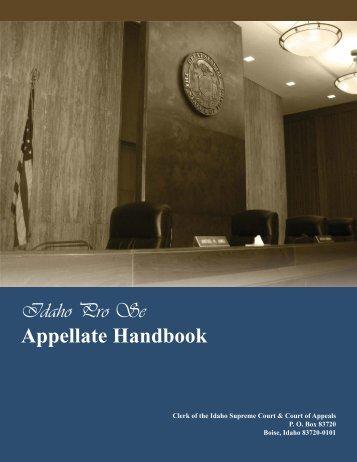 Complete Idaho Pro Se Appellate Handbook - Idaho State Judiciary ...