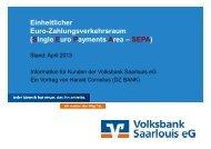 Präsentation zur Veranstaltung - Volksbank Saarlouis eG