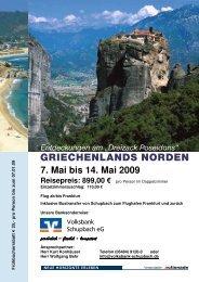 GRIECHENLANDS NORDEN - Volksbank Schupbach eG
