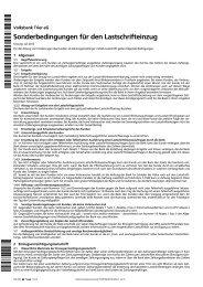 Sonderbedingungen für den Lastschrifteinzug - Volksbank Trier eG