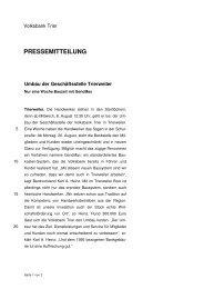 Umbau der Geschäftsstelle Trierweiler - Volksbank Trier eG