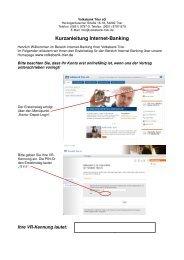 Kurzanleitung Internet-Banking - Volksbank Trier eG