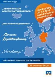 SEPA-Infomappe (PDF) - Volksbank Ulm-Biberach
