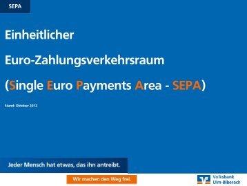 SEPA - Volksbank Ulm-Biberach