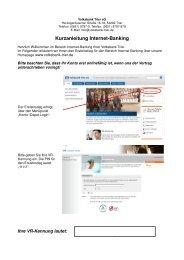 Kurzreferenz Online-Banking neue Internetseite - Volksbank Trier eG