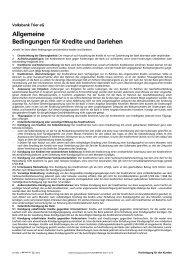 Allgemeine Bedingungen für Kredite und Darlehen - Volksbank Trier ...