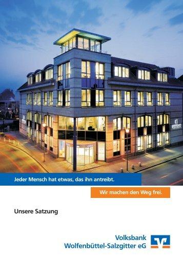 Kopie von Satzung 2012 06 21.cdr - Volksbank Wolfenbüttel ...