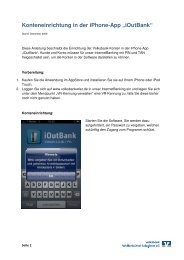 Anleitung - iOutBank auf dem iPhonex