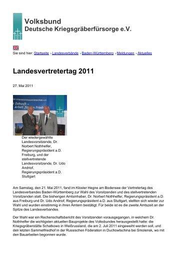 Volksbund Landesvertretertag 2011 - Volksbund Deutsche ...