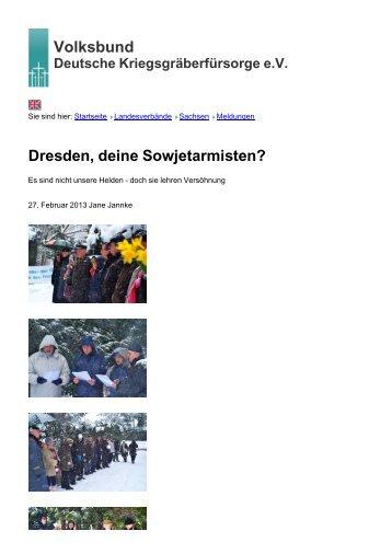 Volksbund Dresden, deine Sowjetarmisten? - Volksbund Deutsche ...